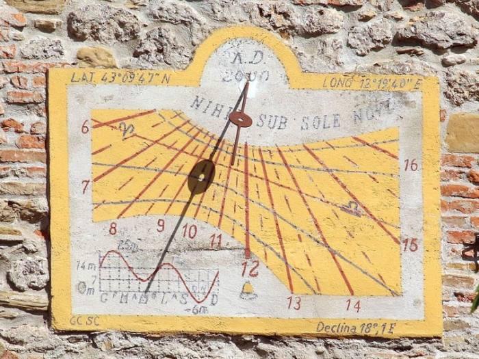 Cadrans solaires d'Italie : province de Perugia Ombrie